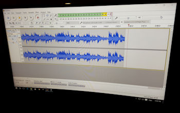 Live screen shot of Audacity in action